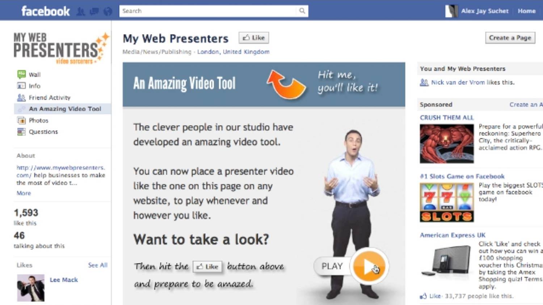 MyWebPresenters: Facebook